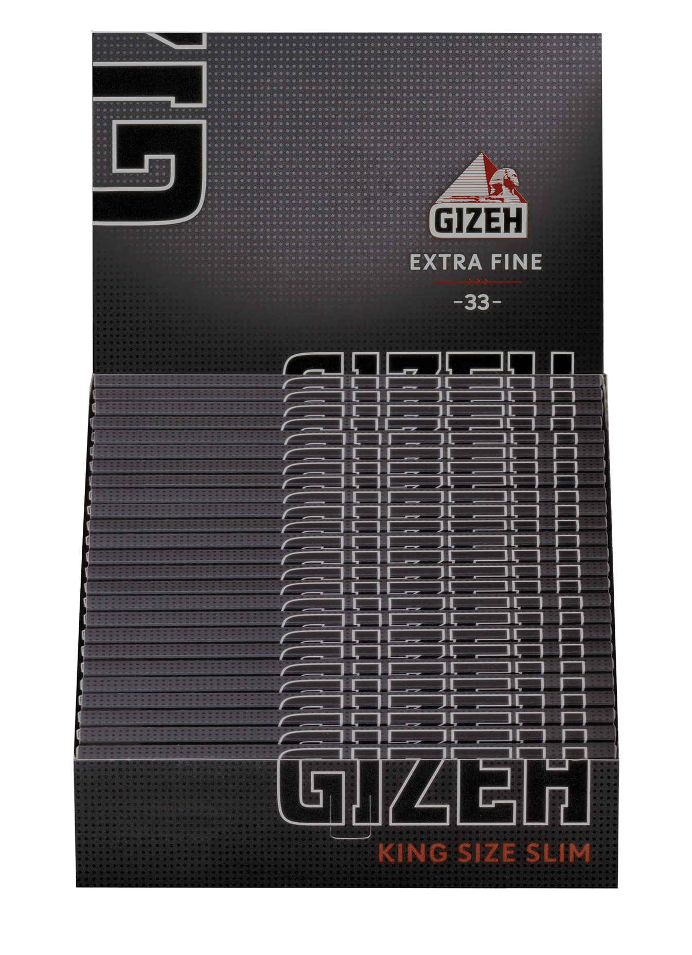 Gizeh Black King Size Slim Xtra Fine