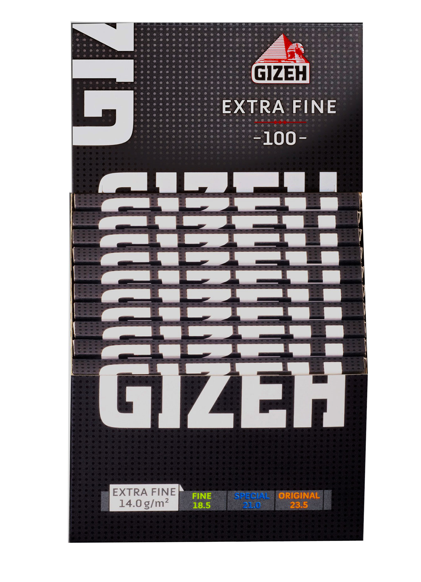 Gizeh Black Extra Fine Regular Size