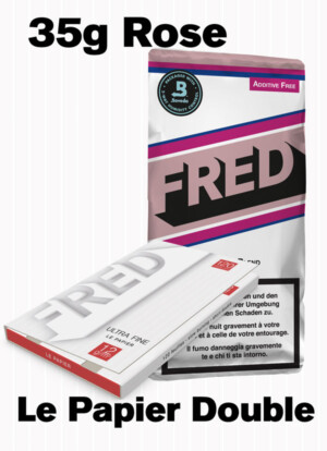 Fred Rose tobacco and le papier double booklet